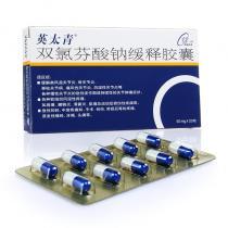 英太青雙氯芬酸鈉緩釋膠囊20粒
